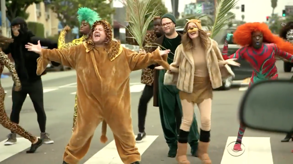 WI - James Corden - Lion King Crosswalk - 5/16