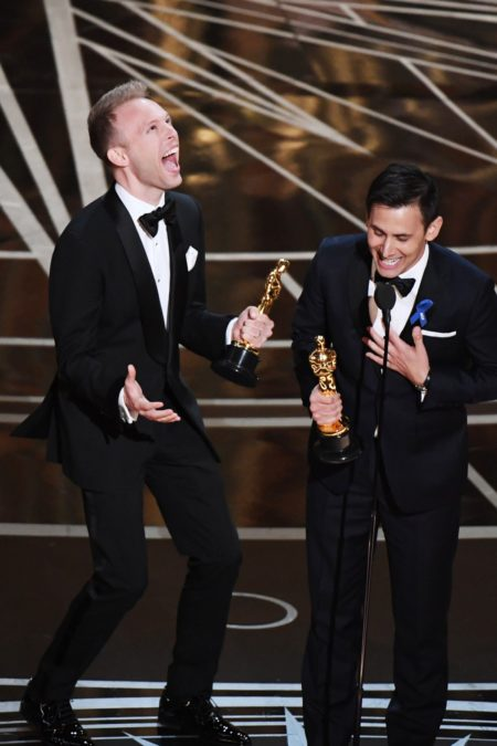 Justin Paul - Benj Pasek - Oscars - Annual Academy Awards - 2/17 - MARK RALSTON/Getty Images