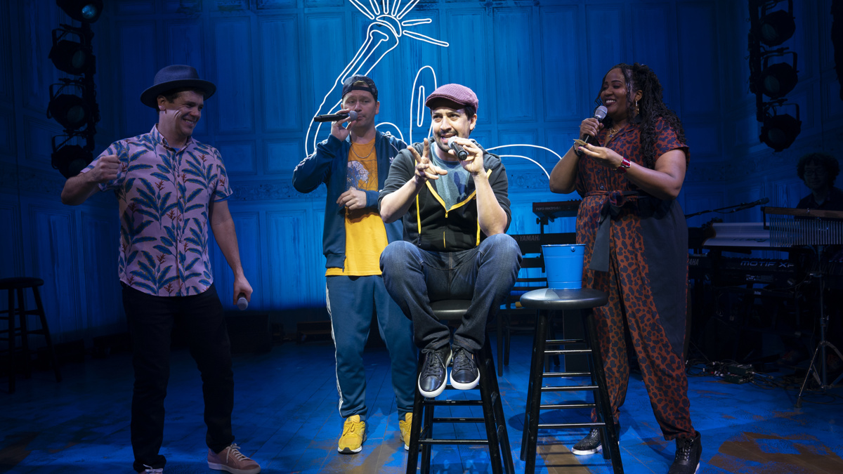 Show Photos - Freestyle Love Supreme - 9/19 - Lin-Manuel Miranda - Photo: Joan Marcus