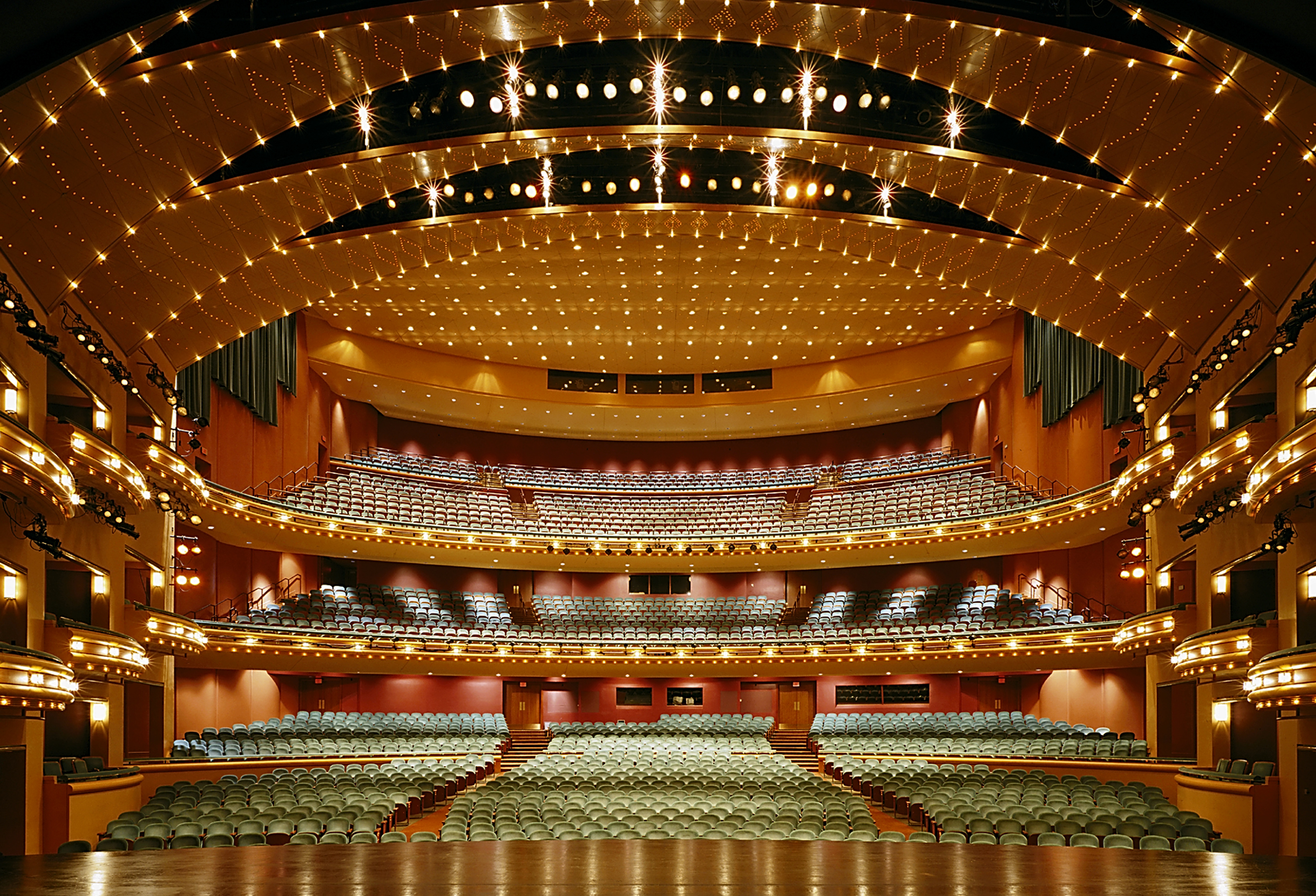 Interior of Aronoff Center seating