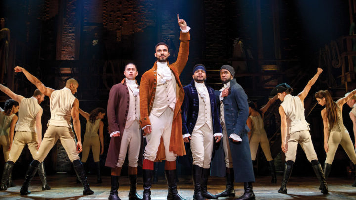 Hamilton cast strikes a pose